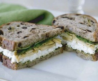 Nancy Silverton. Marinated Artichoke Sandwich recipe.
