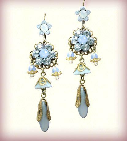 Earrings - Chandelier earrings - The Classic Floral - 200219-3055 Orly Zeelon by OrlyZeelon on Etsy