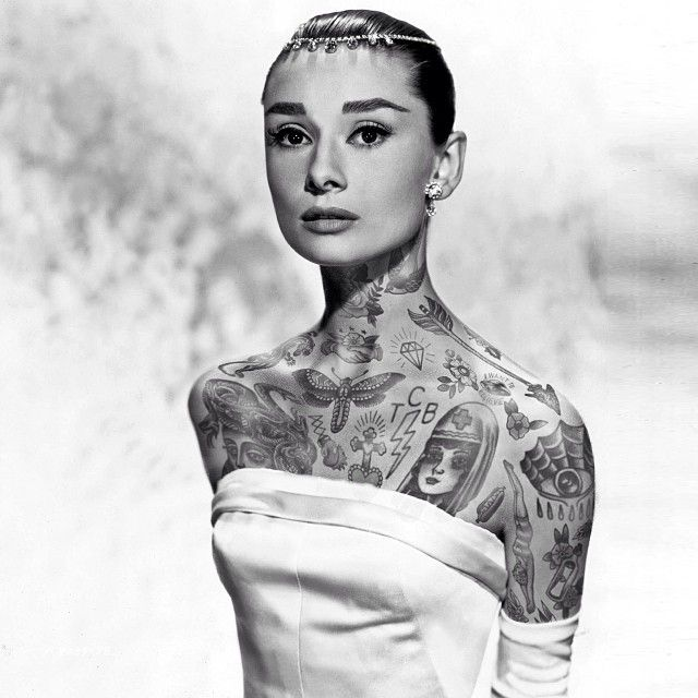 What iconic celebrities would look like covered in tattoos