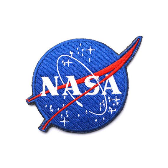 NASA Logo Patch Embroidered Space Sew on Iron on Patches Velcro Patch   Iron on Backing  Brighten up t-shirts, jeans, baby clothes or any other