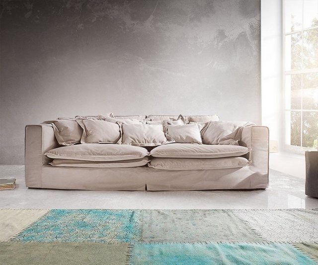Delife Big Sofa Noelia 240x145 Cm Mit Kissen Hussensofa Design