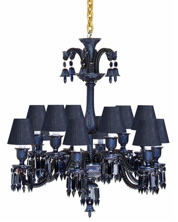 luxury crystal chandelier for interior lighting design ideas by philipe starke zenith midnight. Black Bedroom Furniture Sets. Home Design Ideas