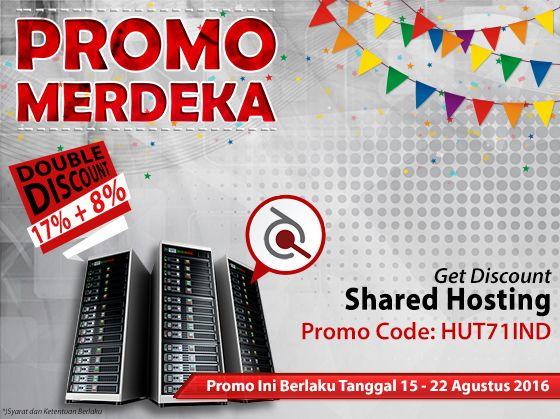 Menyambut HUT Kemerdekaan Indonesia yang ke-71 Ardhosting bagi-bagi promo menarik Double Discount 17% + 8% untuk semua paket Shared Hosting. Selengkapnya di http://goo.gl/URuoFS. #promohosting #hostingmurah #webhosting #bisnishosting #hostinghandal #promoagustus