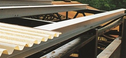 Structural FRP Sections with Fiberglass Roof Panels ... Resists Corrosive Elements that can Corrode Metal Roof and Wall Panels