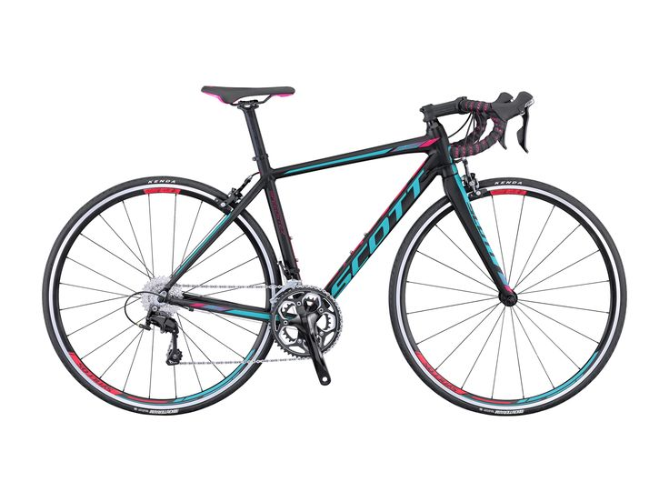 #Scott Contessa Speedster 15 2016 - Ein #Rennrad das mit bewährter Frauen Geometrie, bestem Handling, viel Fahrkomfort und jetzt auch mit aerodynamischen Vorteilen punktet, und mit seinem leichten und stabilen Roadbike Aero Rahmen aus formoptimierten, doppelt konifizierten Aluminiumrohren.