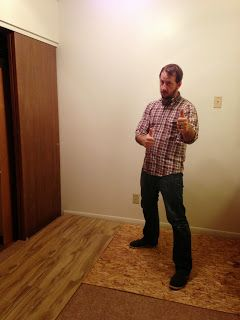 How to cover plush, padded carpet with wood laminate!