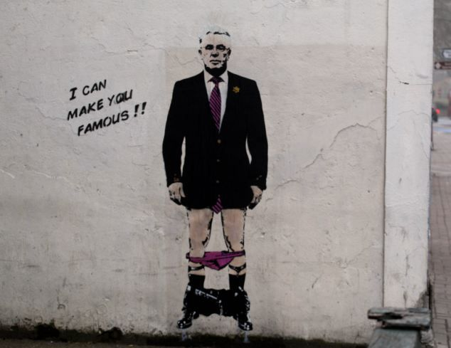 Banksy? Last month, a painting of Max Clifford with his pants down, produced in the style of Banksy, appeared on a wall in Battersea. The pi...