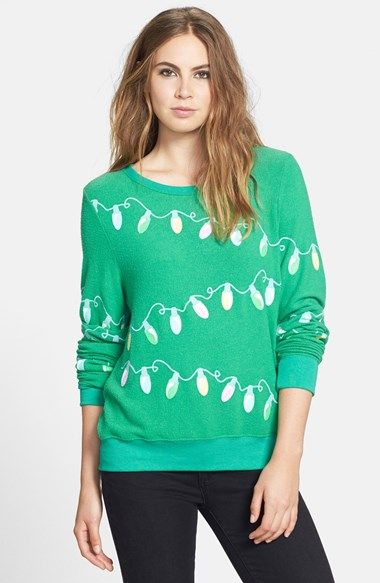Wildfox 'Glowing Lights' Sweatshirt available at #Nordstrom