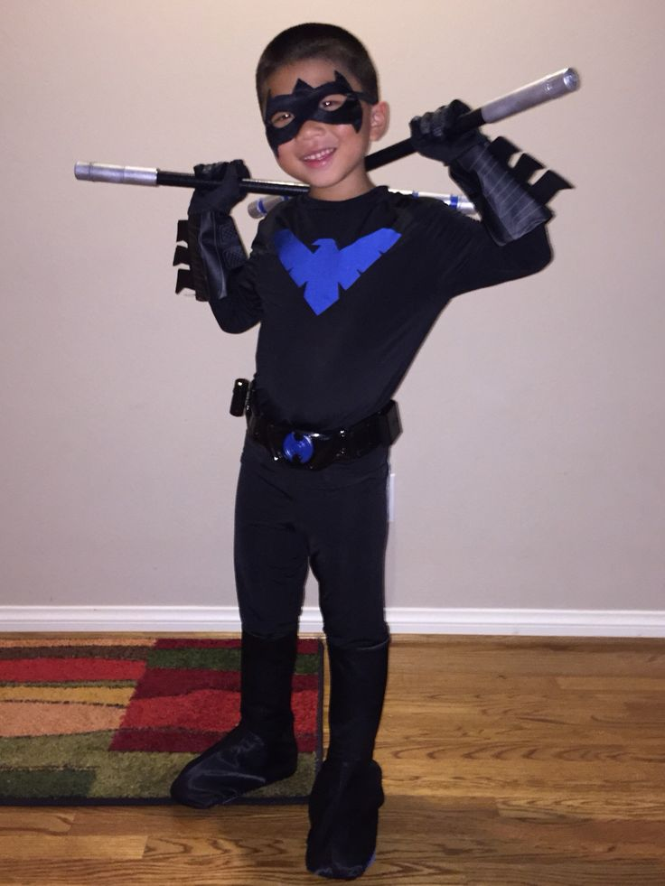 Handmade Child Nightwing Costume With Escrima Sticks : handmade childrens costumes  - Germanpascual.Com