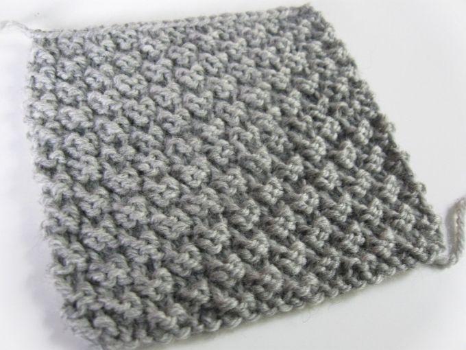 Ponto de tricô fácil: Check stitch 2 pontos