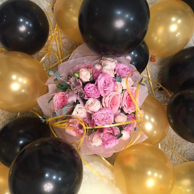 100 Pcs/lot Latex Ballons de Fête D'anniversaire Ballon D'or, Noir, Blanc, Rouge, Rose, Violet, Bleu ballons boules De Noce Décorations