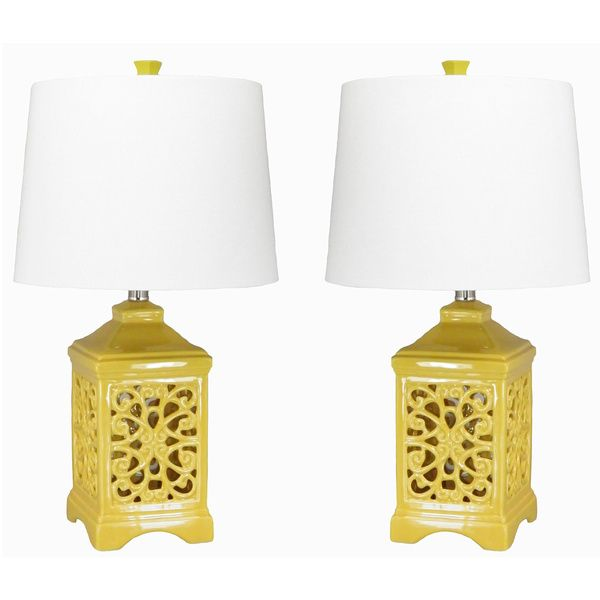 Dulce Yellow Table Lamps (Set of 2) by JT LIGHTING