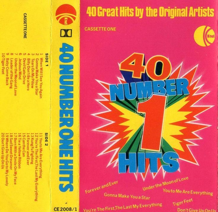 40 NUMBER ONE HITS CASSETTE KTEL CE 2008