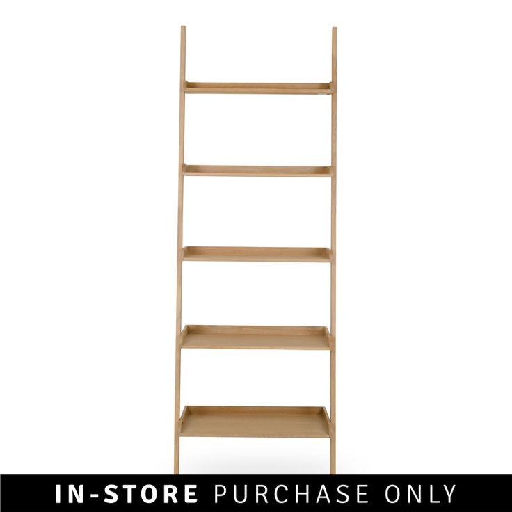 oak leaning shelf