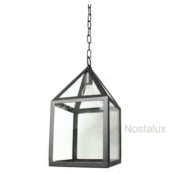 Vierkante stijlvolle moderne hanglamp voor buiten of binnen.