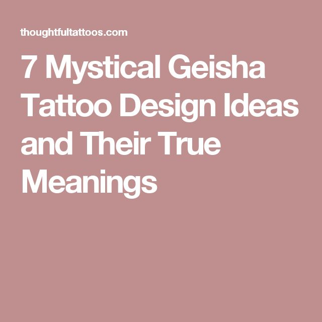 7 Mystical Geisha Tattoo Design Ideas and Their True Meanings