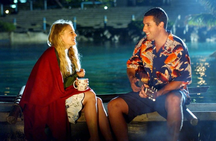 Drew Barrymore and Adam Sandler ~ As Lucy Whitmore and Henry Roth in 50 First Dates (2004) ~ 59 Great Movie Couples