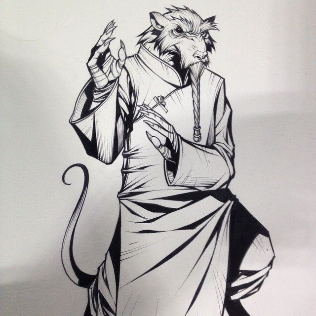 Penciled and inked this sweet IP man style master splinter at #Tampabaycomiccon…
