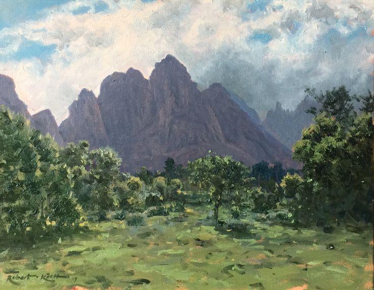 Morning rains Oil on canvas  by Robert Koch