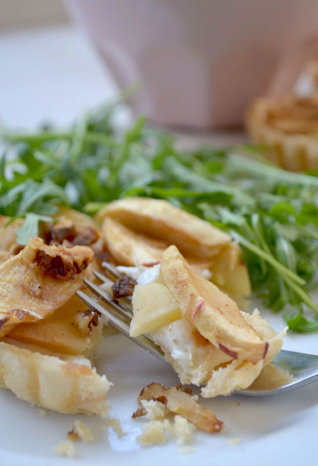 Apple and Goats Cheese Tartlets