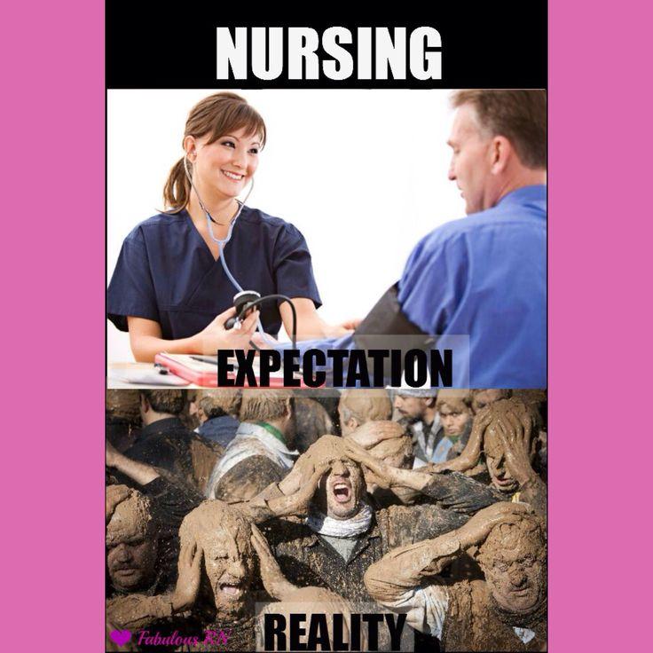Nursing humor. Nurses humor. Nursing school humor. Nurse meme. Expectation and reality. Code brown. Poop for days.
