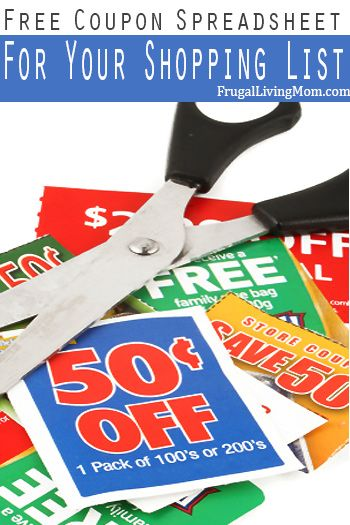Love to #coupon? Get organized with this free spreadsheet.