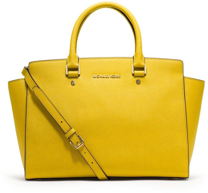 15fbba057beb Buy michael kors satchel yellow > OFF33% Discounted