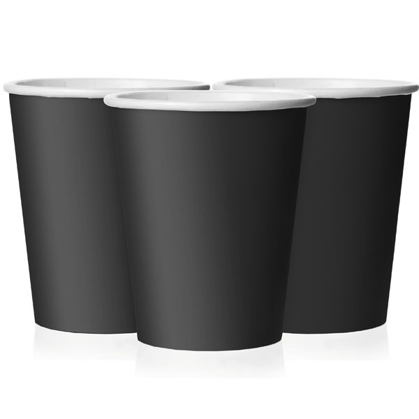 Black party paper cups 9oz £1.85 8pk