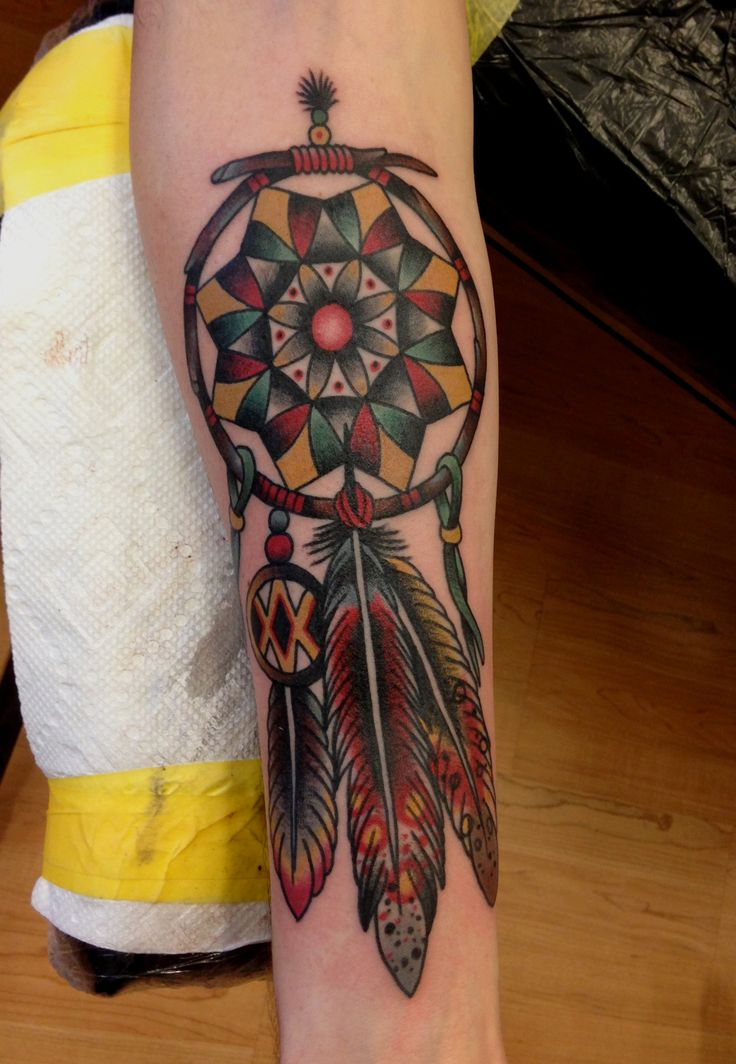 What Do Dreamcatcher Tattoos Represent? | TatRing |Native American Dreamcatcher Tattoo