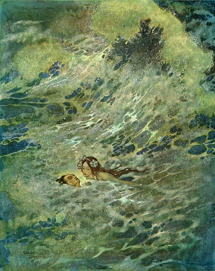 Edmund Dulac - The Mermaid in the sea