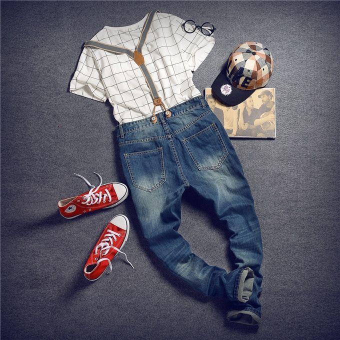 (36.37$)  Buy here  - Mens Distressed Jeans Ripped Jumpsuit  Denim Overalls Men Baggy Cargo Pants with Suspenders Denim Bib Overalls for Men 260