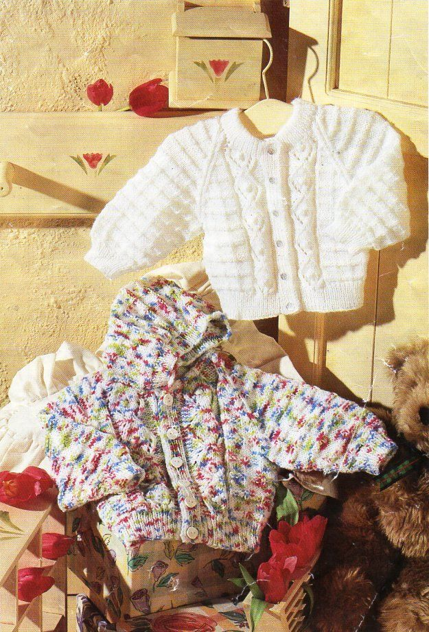 720b66ee579e baby hooded jacket cardigan knitting pattern pdf 16-22