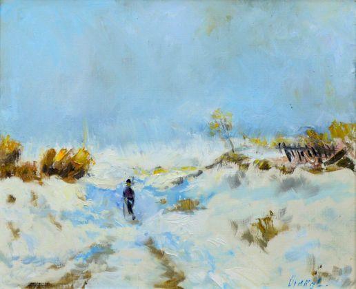 Téli táj, olaj vásznon, 50x60 cm