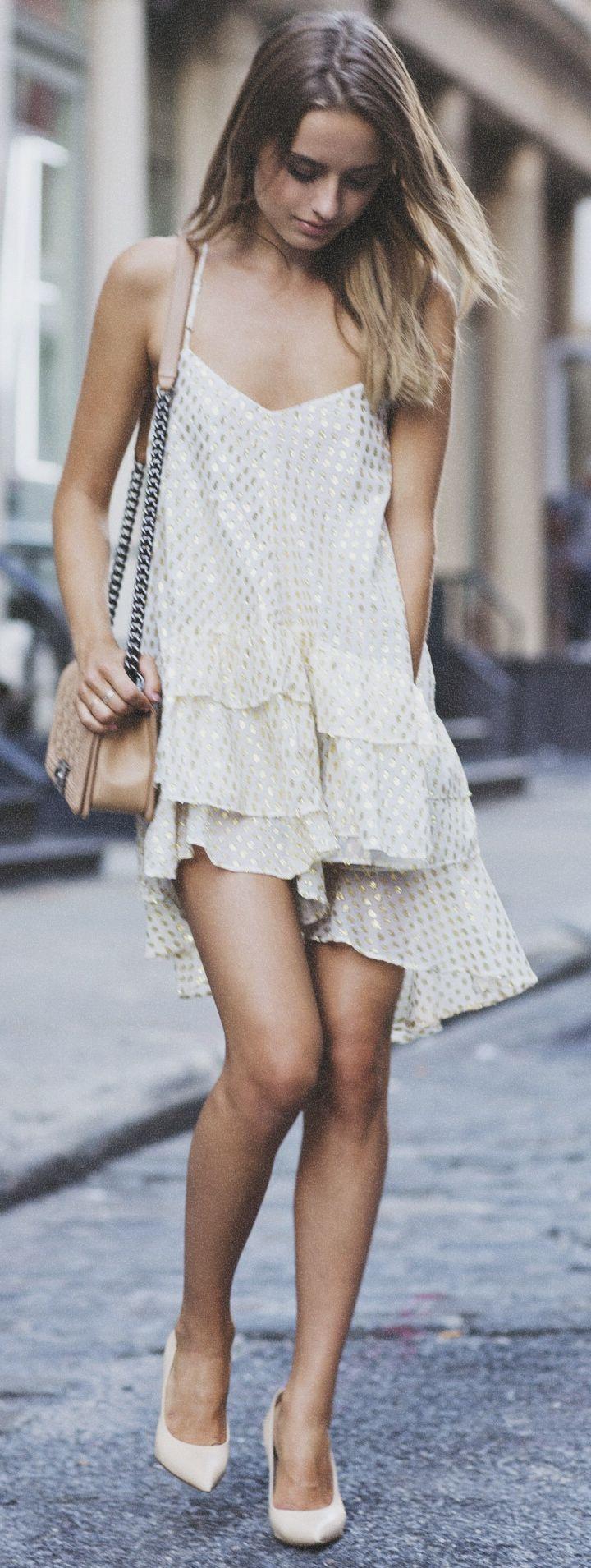 Ruffle Sequin Dress
