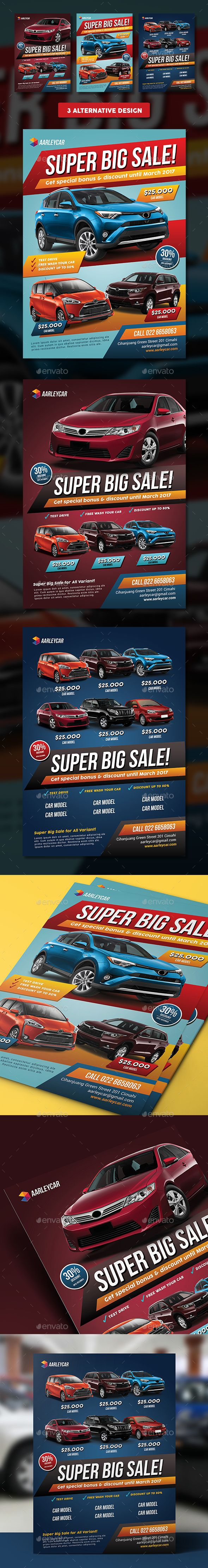 Car Sale Flyer  — PSD Template #red #discount • Download ➝ https://graphicriver.net/item/car-sale-flyer/18299358?ref=pxcr