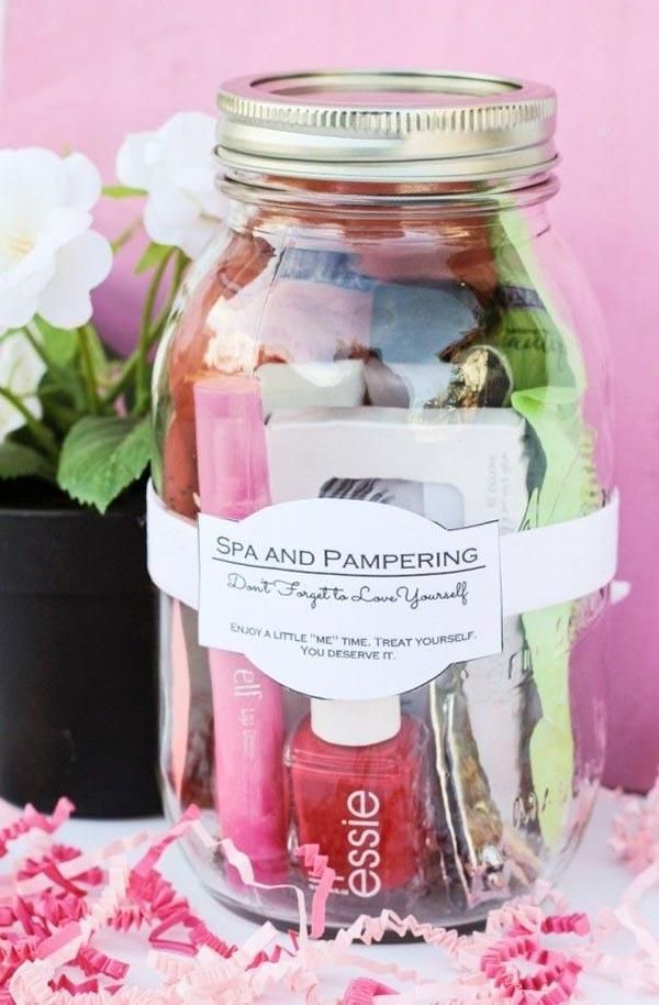 DIY spa bridesmaid gift