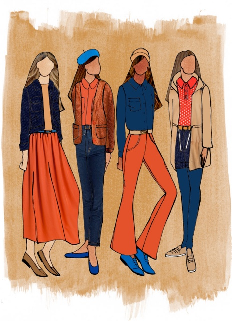 Fall styling inspiration for our stores merchandizing.  Illustration by Sarah.  #merchandizing #illustration #inspiration