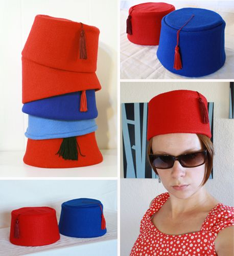 DIY Doctor Who Party and DIY Felt Fez Pattern and Tutorial by Tally's Treasury here. Step #19 or why I love this post:    19) Party time! Remind all your friends how cool fezzes are. If you have the right kind of friends, they should already know this. For even more coolness, add a bowtie.