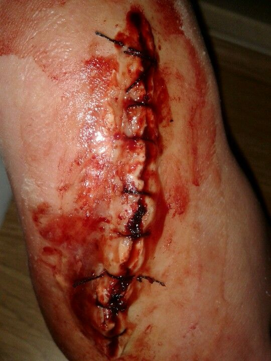 my special effects makeup stitched up cut copyright rebbecca convey  www.29frameproductions.com
