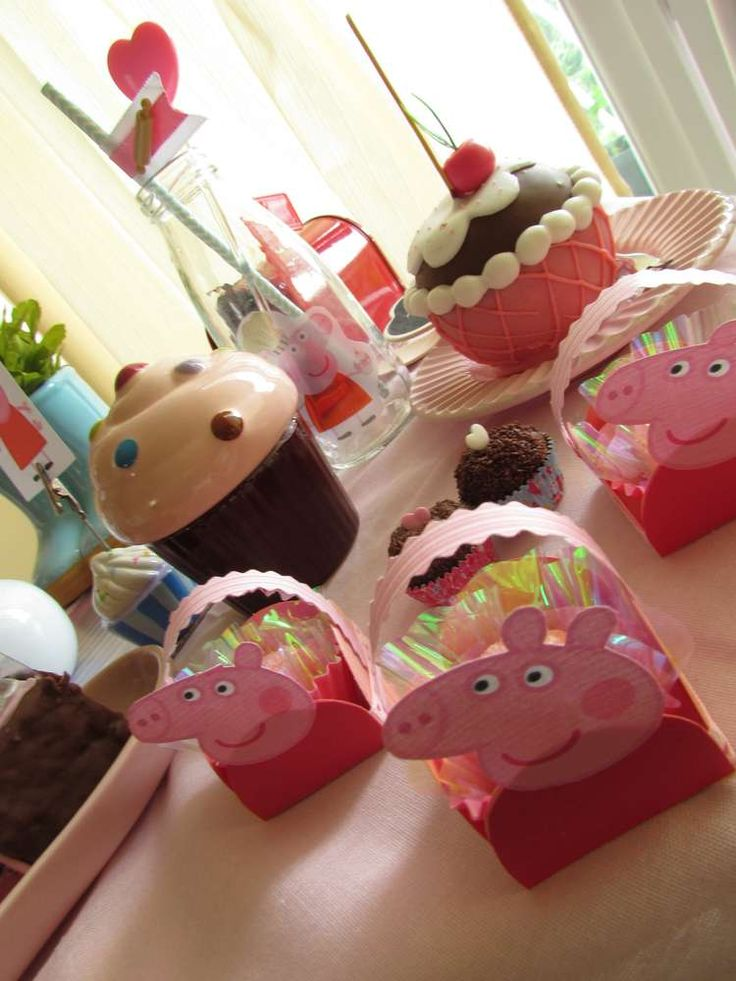 Peppa Pig Patisserie Birthday Party treats! See more party ideas at CatchMyParty.com!