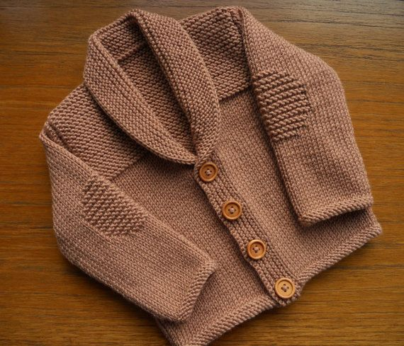 Cardigan/jacket for a baby boy age 3-6 months approx by TradKnits