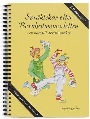 Bornholmsmaterialet Lättåskådligt – en lek på varje sida. Lättplanerat – färdiga veckoscheman för ett helt läsår. Tidsbesparande – bildkort och bokstäver färdiga att använda. Praktisk förvaring – till alla kort och bokstäver ingår askar i färg. Språklekar efter Bornholmsmodellen – en väg till skriftspråket är ett komplett språkutvecklande material med målet att utveckla elevernas