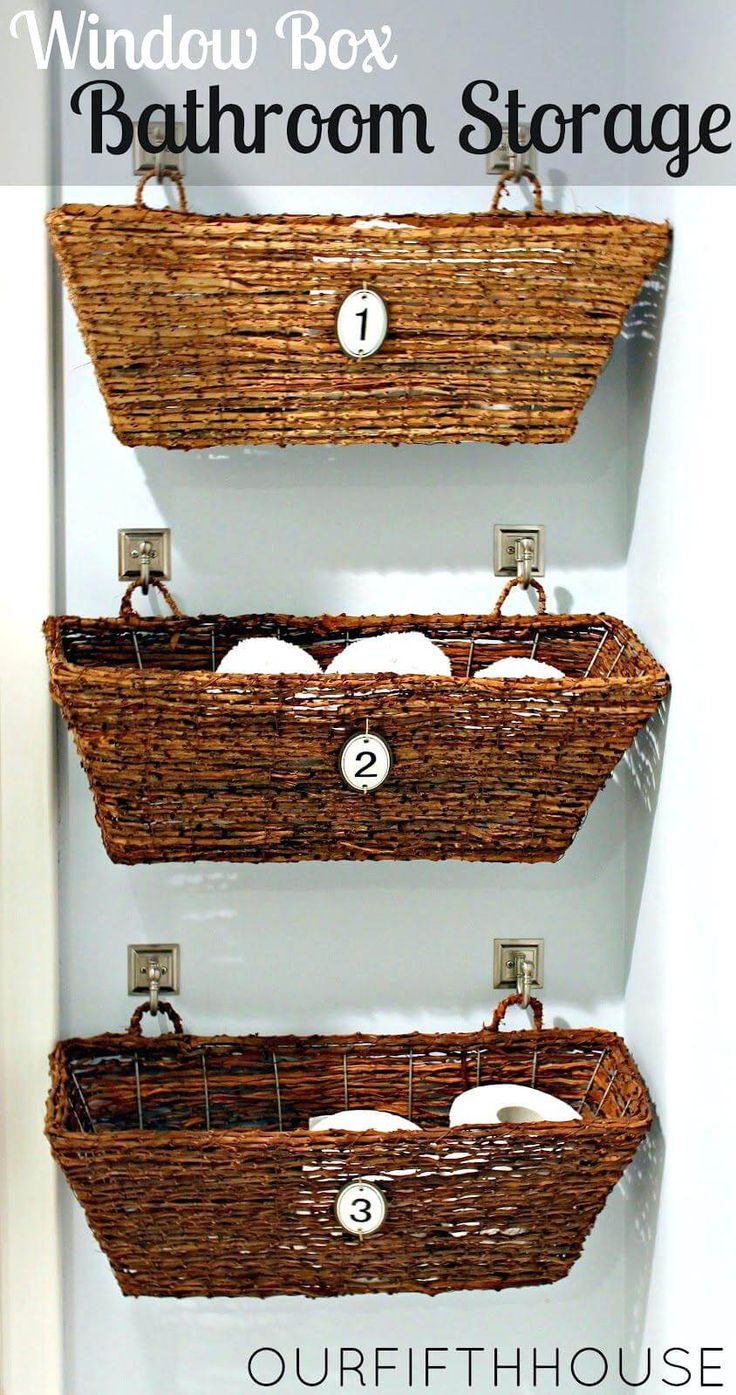 26 And Easy Diy Bathroom Ideas Anyone Can Do Wicker Basket Storage Idea