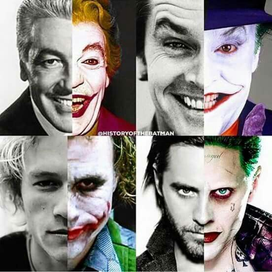 Absolutely love this!  The men who portrayed the Joker! …