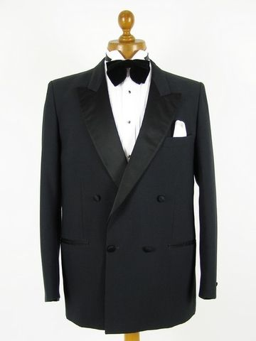 Buy Second Hand Designer Clothes | Double Breasted Dinner Jacket Mens 41r Sugar Swing Nye Nola