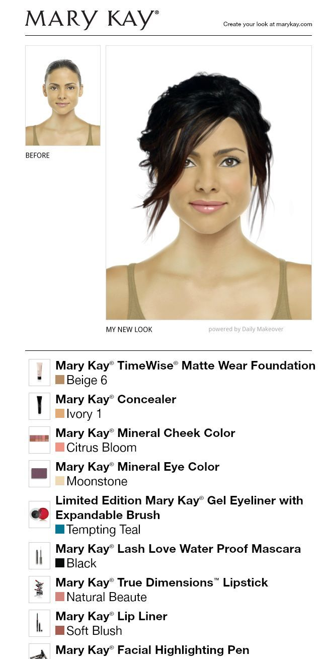 Test out your different looks with the Mary Lay Virtual Makeover app!