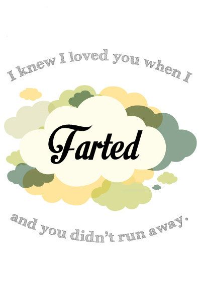 Funny and Romantic Farting Valentine's Day Card by RuthiesMagicalCamera. Instand download. Great gift for your husband/wife or boyfriend/girlfriend.
