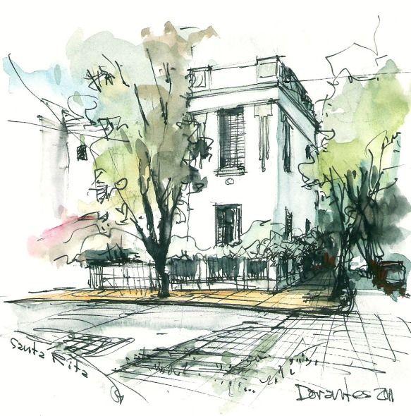 Dibujo a mano alzada: El proceso de sintetizar un modelo #arquitectura #dibujo http://noticias.arq.com.mx/Detalles/15681.html