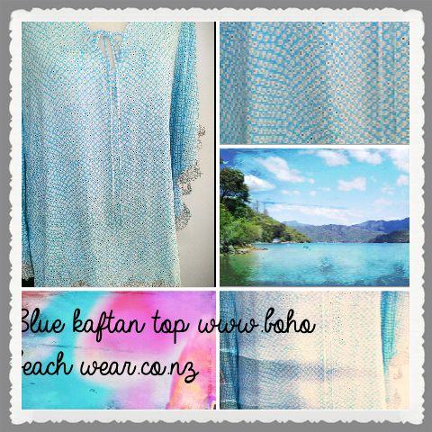 Inky Blue Kaftan Top from www.resortwear.co.nz