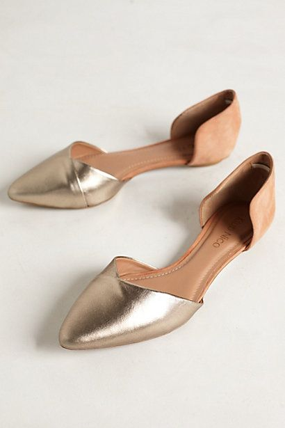 gold d'orsay flats #anthrofave
